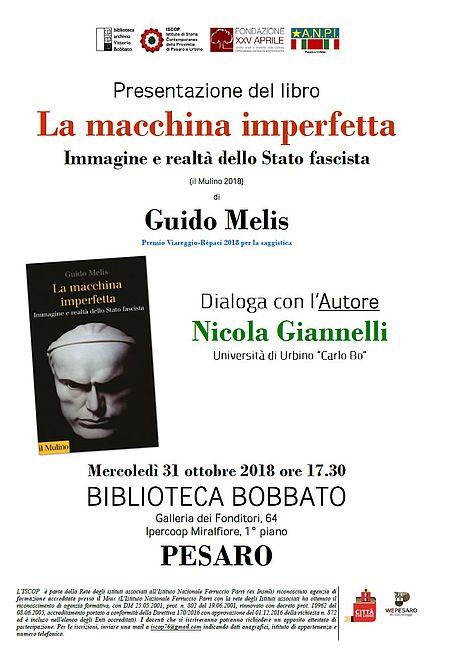 Locandina presentazione libro Melis