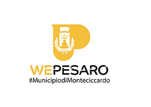 Logo del Municipio di Monteciccardo giallo su sfondo bianco