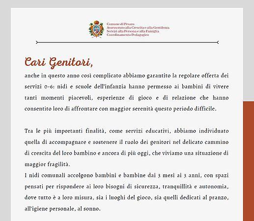 lettera Ceccarelli Open Day Nidi 2021