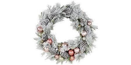 Fotografia di una corona natalizia