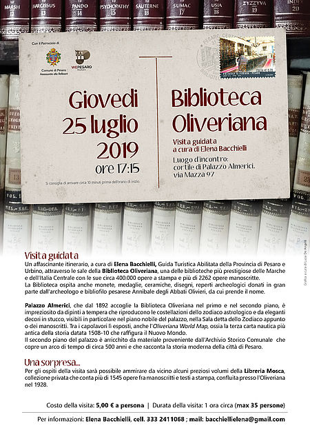 Visita guidata alla Biblioteca Oliveriana_locandina