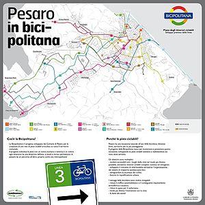 Mappa della Bicipolitana di Pesaro totem