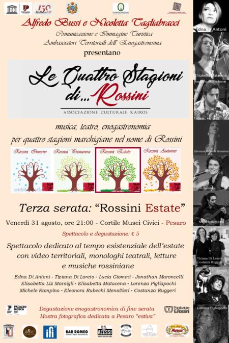 """Locandina """"Le quattro stagioni di Rossini"""""""