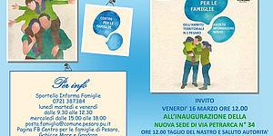 locandina inaugurazione nuovo centro per le famiglie