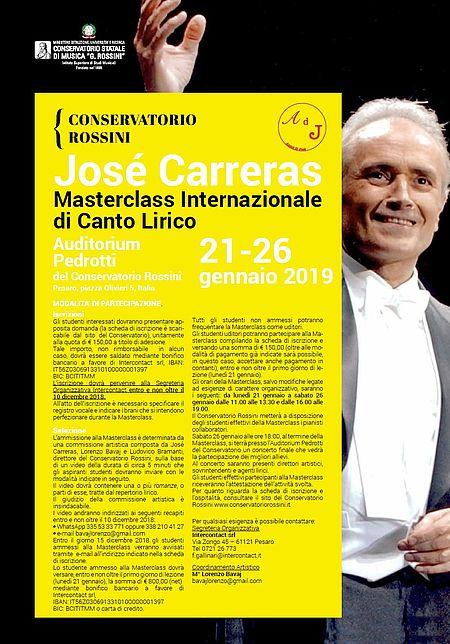 Masterclass Carreras manifesto