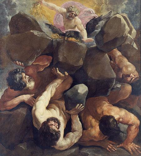 Guido Reni, La caduta dei giganti, collezione Hercolani-Rossini