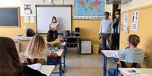 Ricci si affaccia in aula