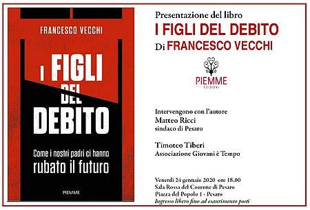 """""""I figli del debito"""", Francesco Vecchi presenta il suo libro"""