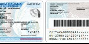 nuova carta di identità - fronte
