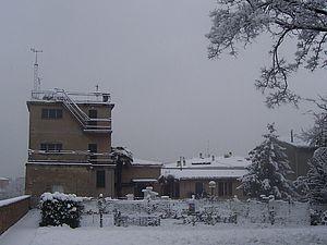 """L'osservatorio """"Valerio"""" sotto la neve"""