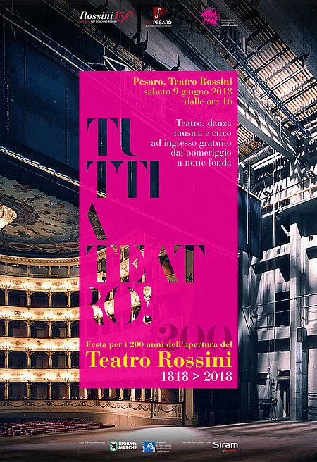 """Manifesto di """"Tutti a teatro"""""""