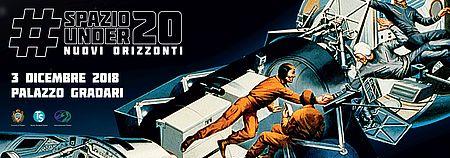 Spazio sullo sfondo con navicella e astronauti
