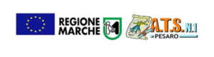 logo bando disabilità gravissime 2019 composto da bandiera europea logo Regione Marche