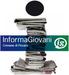 logo InformaGiovani con una I grande format da una pila di giornali e al centro la scritta