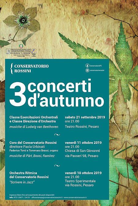 3 concerti d'autunno locandina