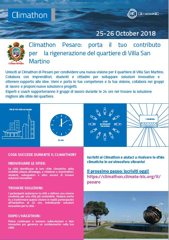 Climathon Pesaro locandina