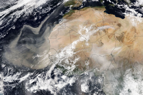 Picchi di pm10 per polveri dal Sahara