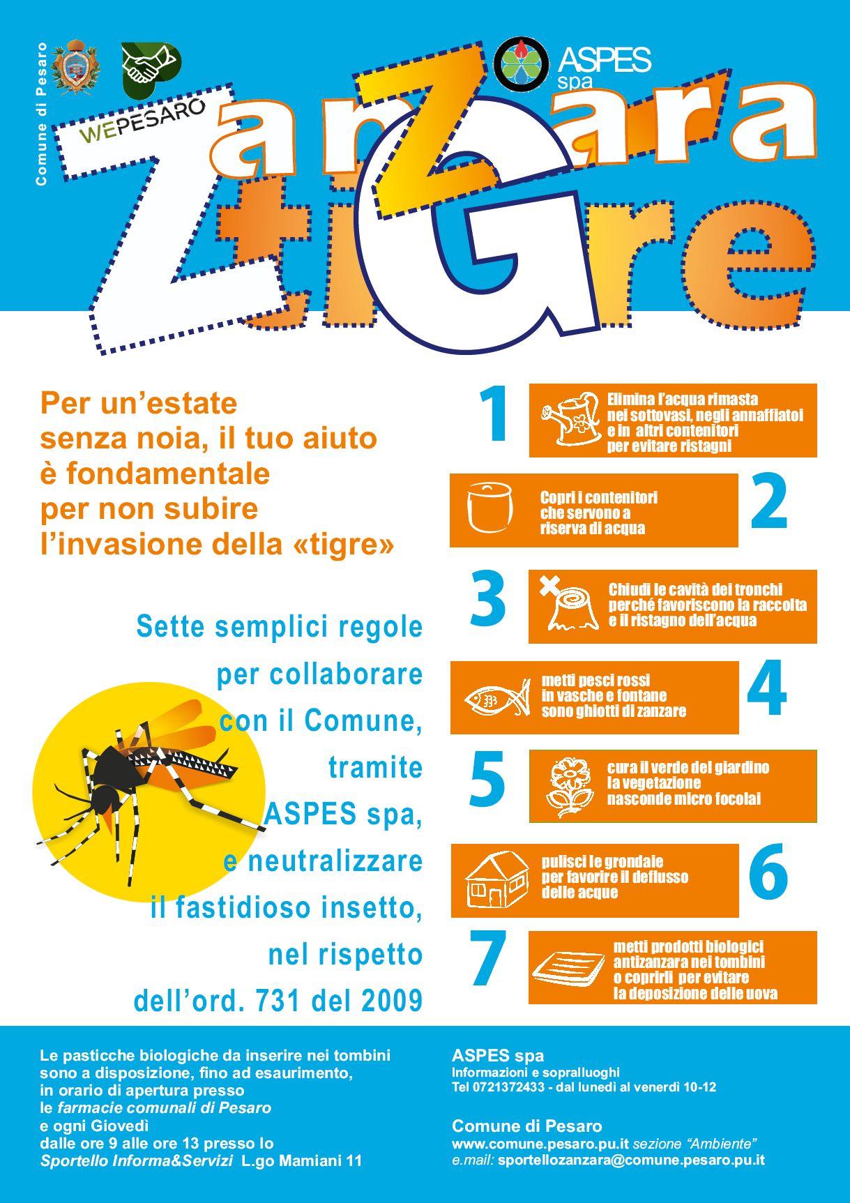 Prevenzione zanzara tigre volantino