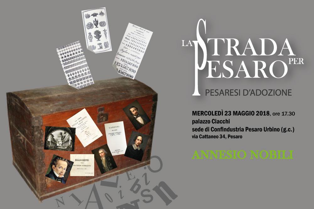 Cartolina La strada per Pesaro_Nobili
