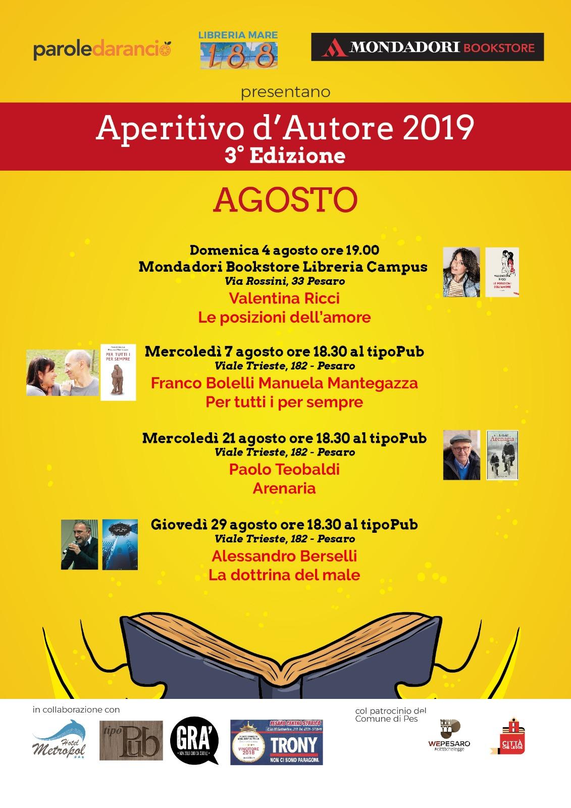 Aperitivo d'Autore agosto 2019