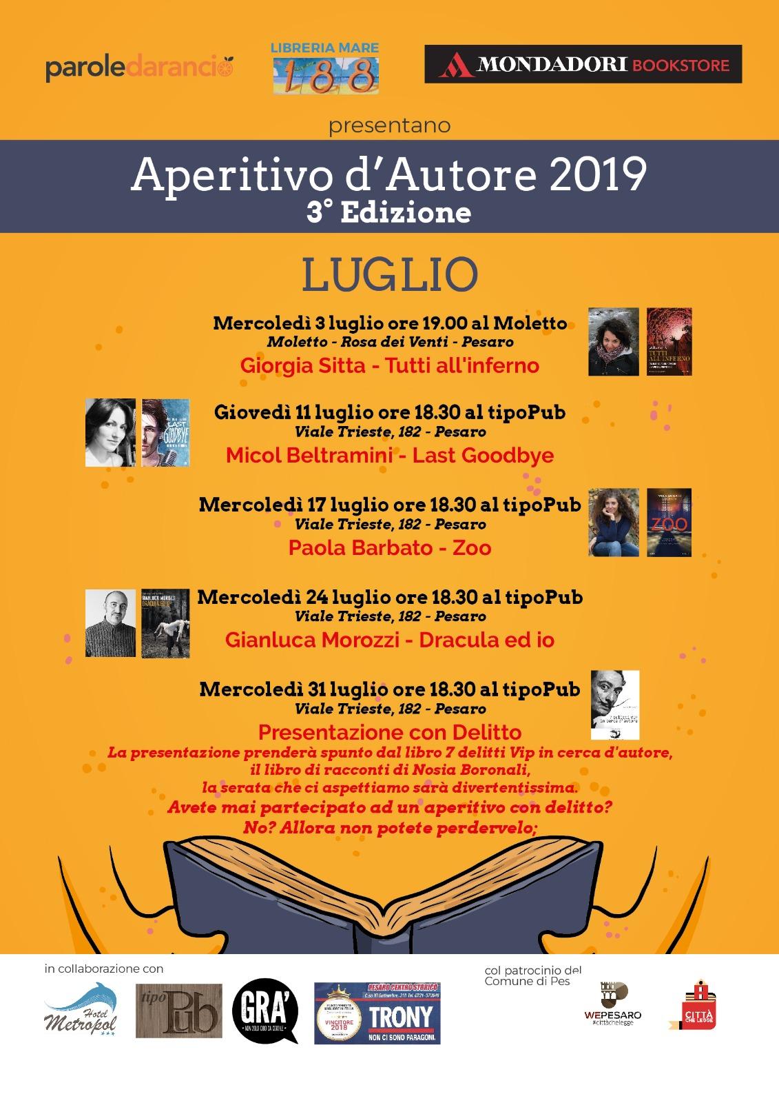aperitivo d'autore 2019 3^edizione