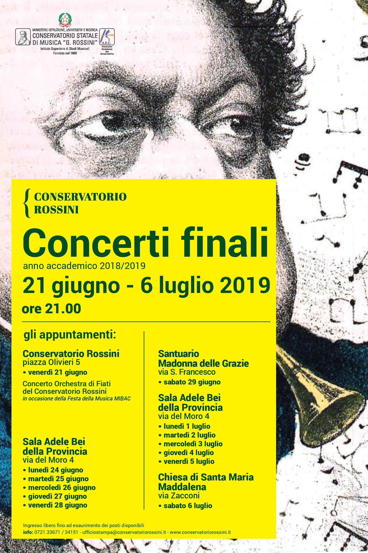 Concerti Finali 2019 del Conservatorio Rossini_manifesto