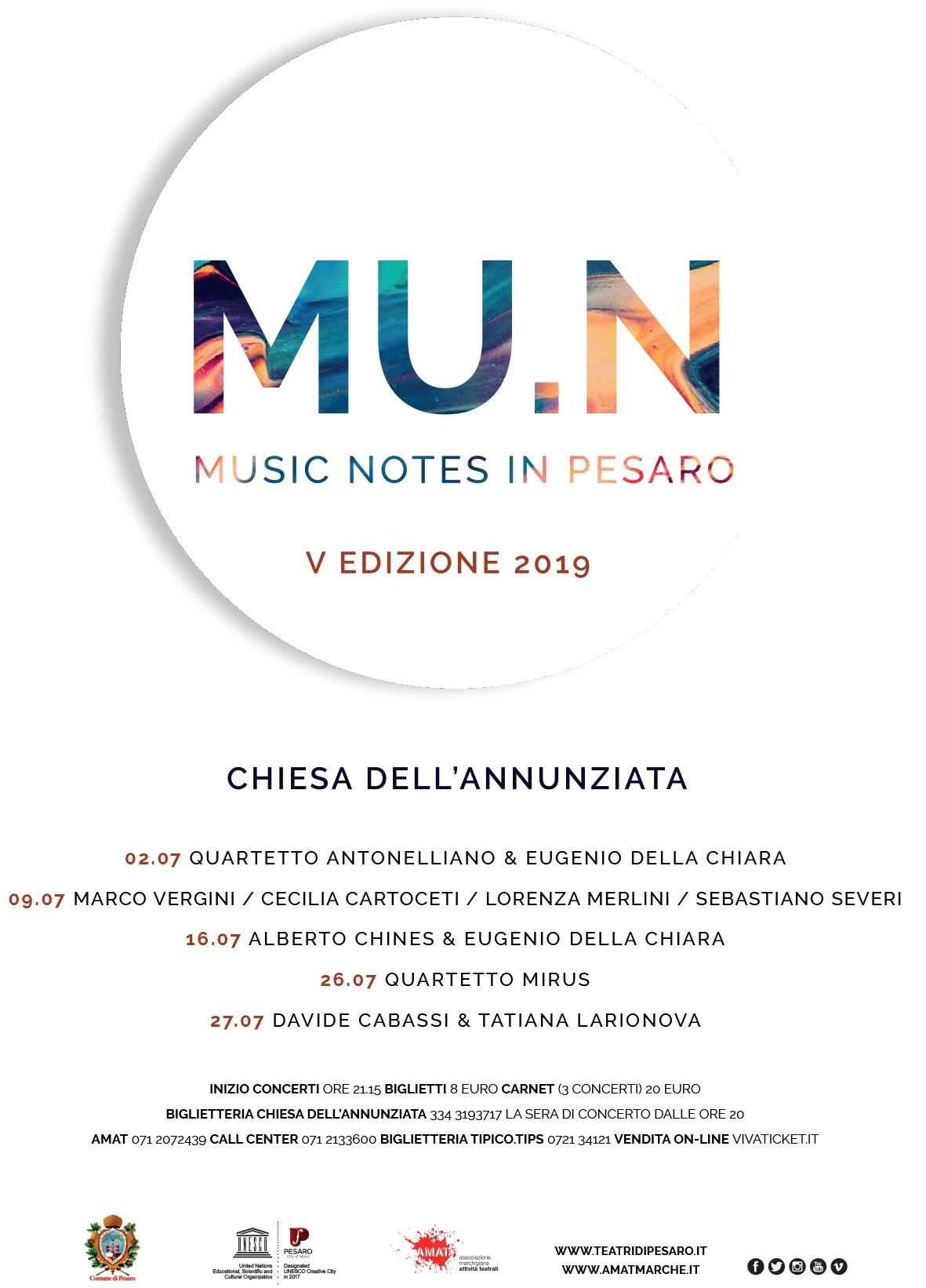 MU.N - Music Notes in Pesaro_2019