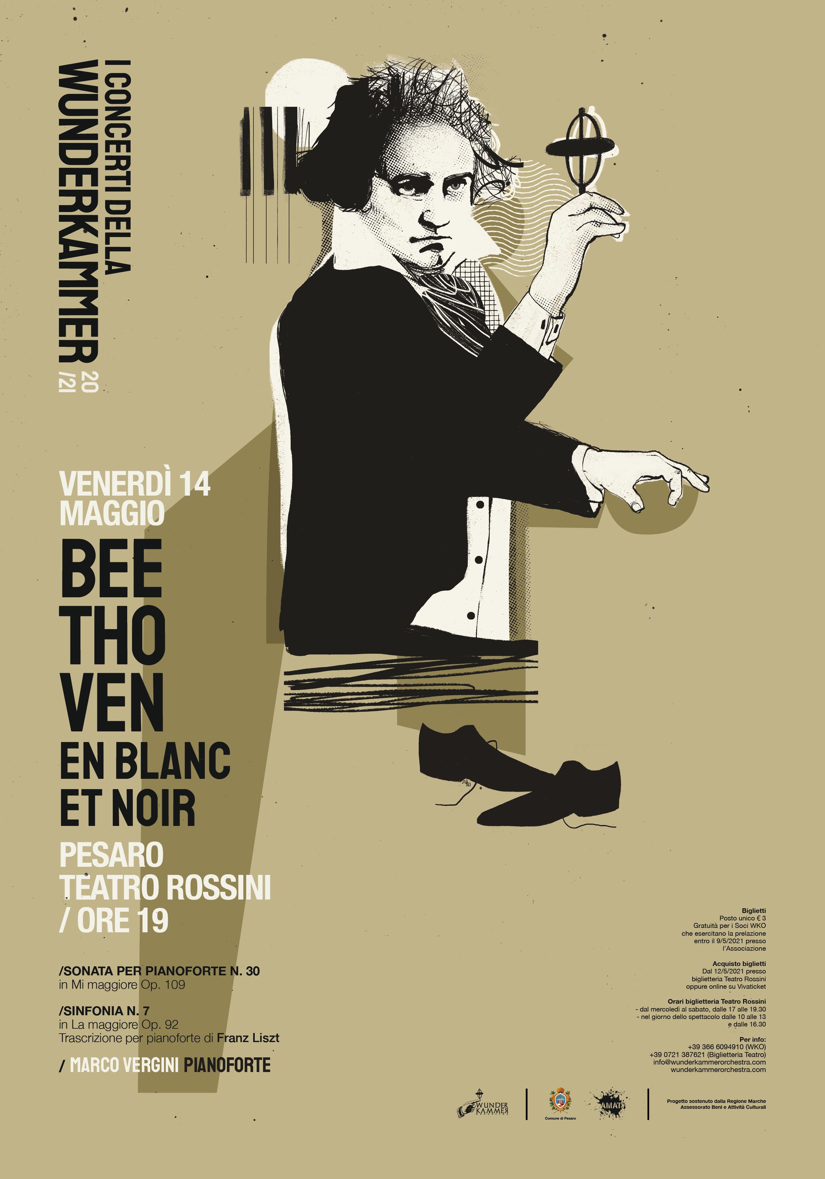 WKO Beethoven en blanc et noir locandina