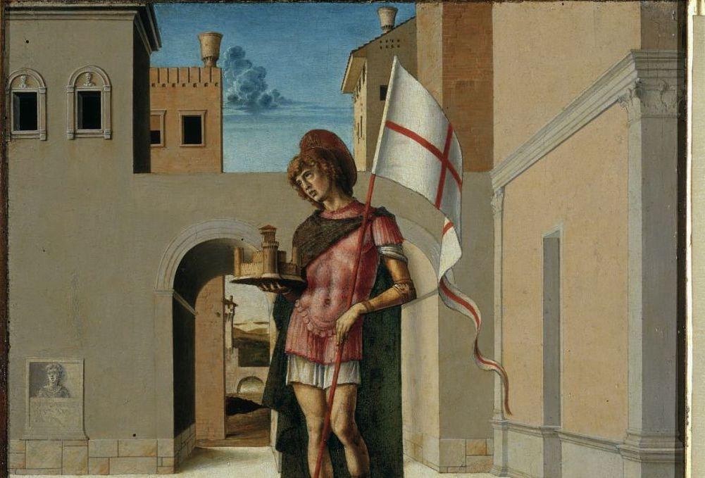 San Terenzio pilastrino della Pala con L'incoronazione della Vergine di G. Bellini