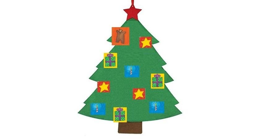 particolare della locandina raffigurante albero di Natale