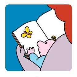 """Logo del progetto nazionale """"Nati per Leggere"""""""