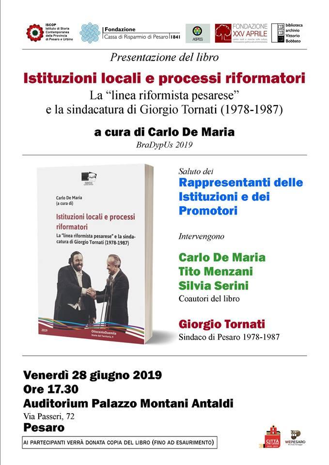 Istituzioni locali e processi riformatori_locandina