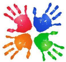immagine mani colorate