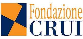 Logo Fondazione Crui nero e arancione