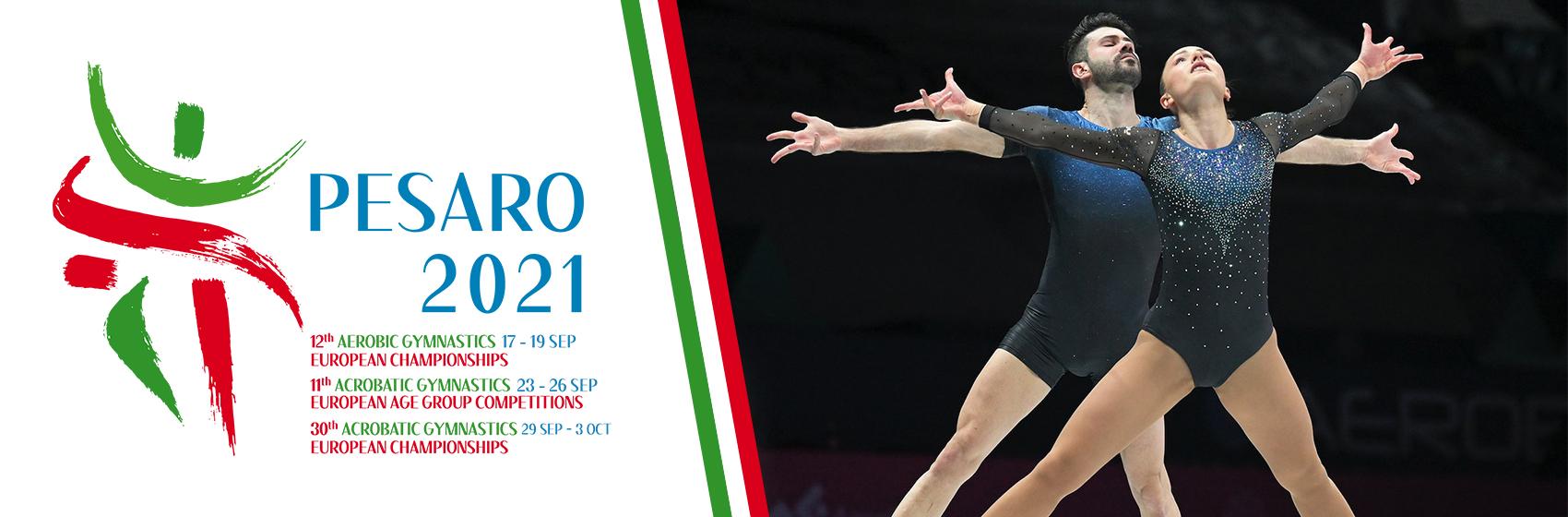 Campionati europei ginnastica locandina