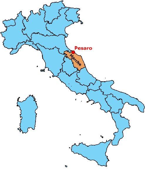 Marche Cartina Italia.Comune Di Pesaro Come Arrivare