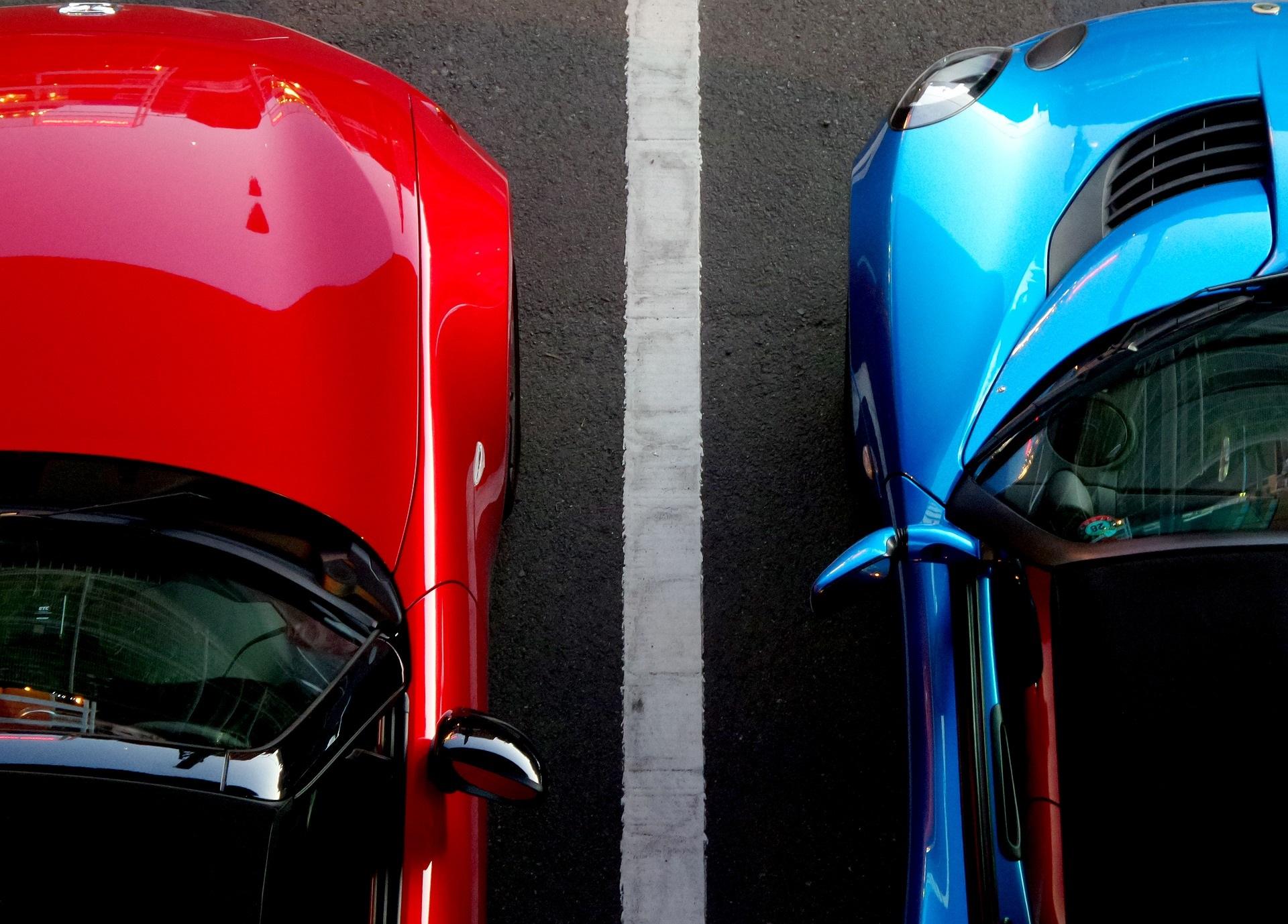 Immagine parcheggio di auto