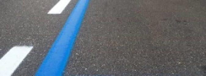 Immagine strisce blu