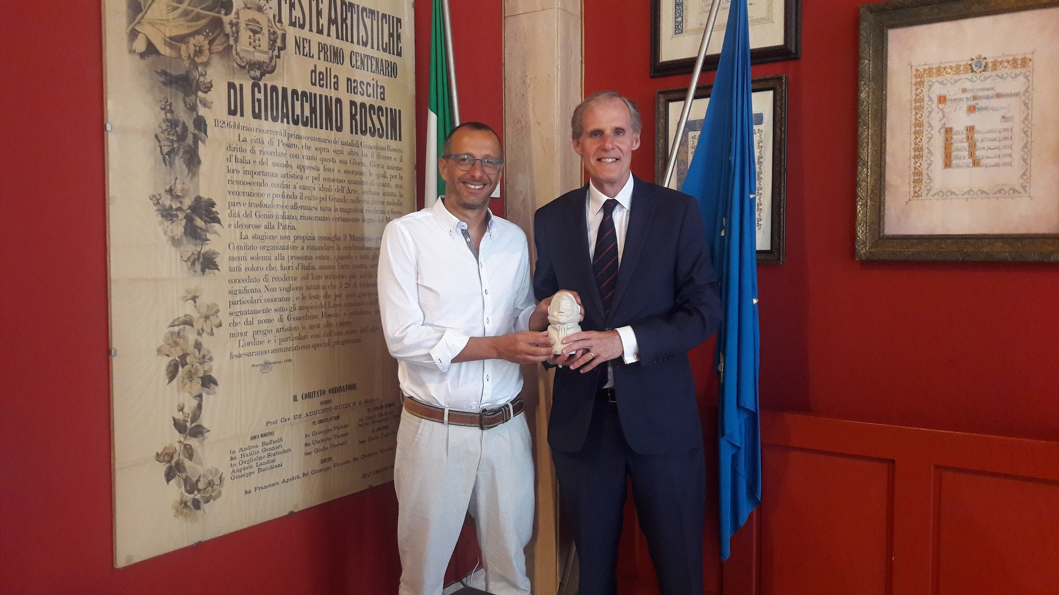 Ricci incontra l'ambasciatore Masset: «Il rapporto con la Francia è fondamentale per la cultura»