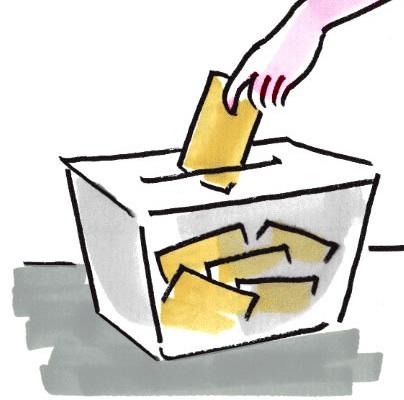 disegno urna elettorale