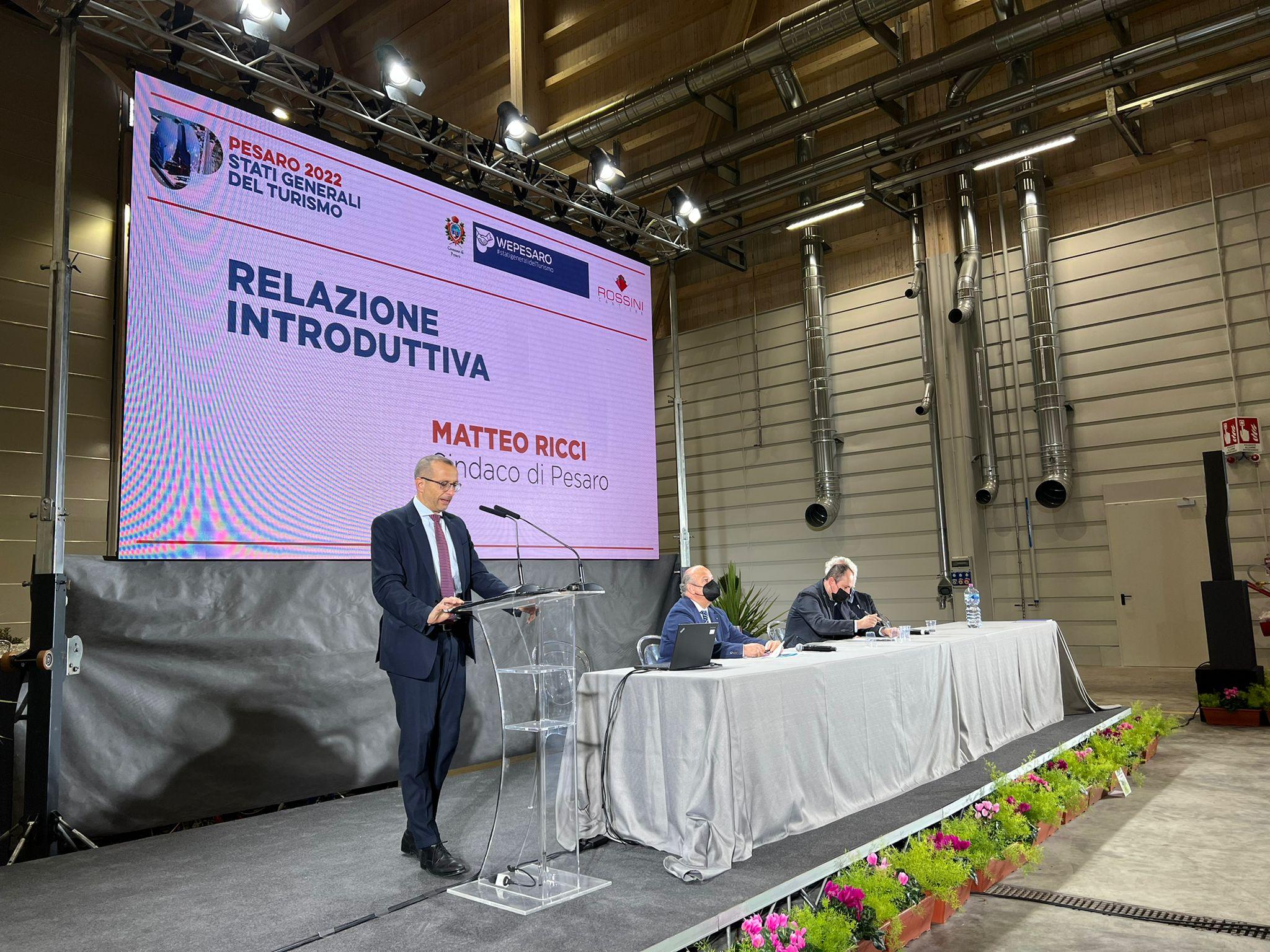 Ricci sul palco degli Stati Generali del Turismo 2022